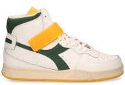 Diadora Sport - Mi Basket Mid Icona Wit Groen Damessneakers - Dames - Wit Divers