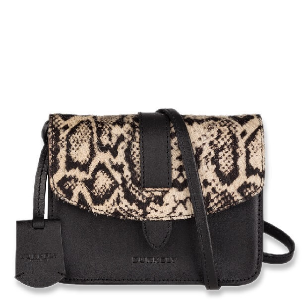 Burkely Evening Hair On X-Over cross body bag met snakeprint