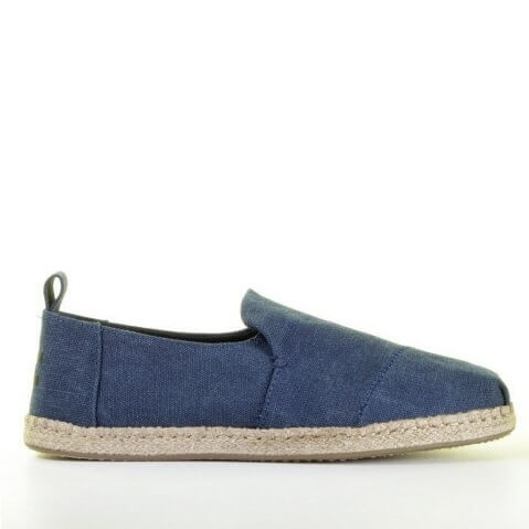 Toms donkerblauwe espadrille loafer heren zomer