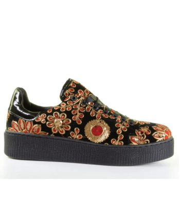 Miss Behave Embroidery Platform Sneaker