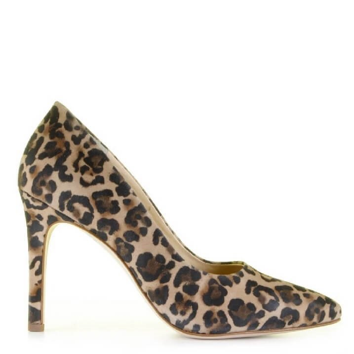 Paul Green pumps met panterprint