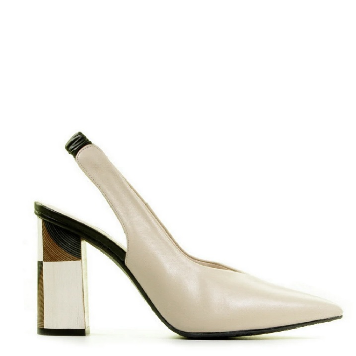 Lodi slingback pumps in neutrale kleuren
