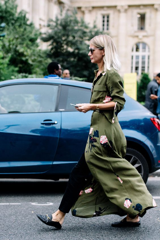 Gucci_Mules_Muiltjes_Sliders_Loafers_Army Green Coat_Shoes_Schoenen_Trend_Lente_Zomer_2017_How to wear