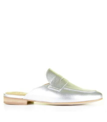 Cypres Loafer Slider Metallic Zilver