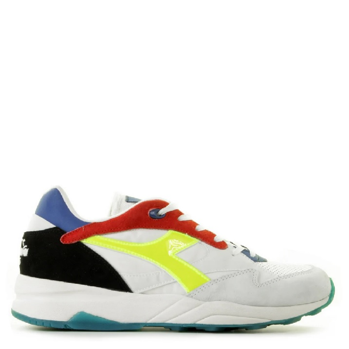 Diadora Heritage Eclipse herensneakers met fluor accent