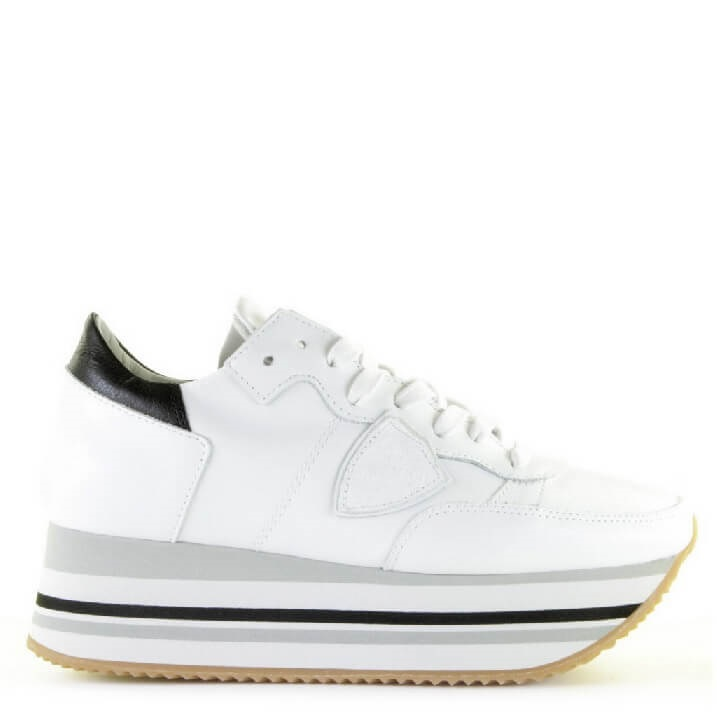 Philippe Model witte platform sneakers