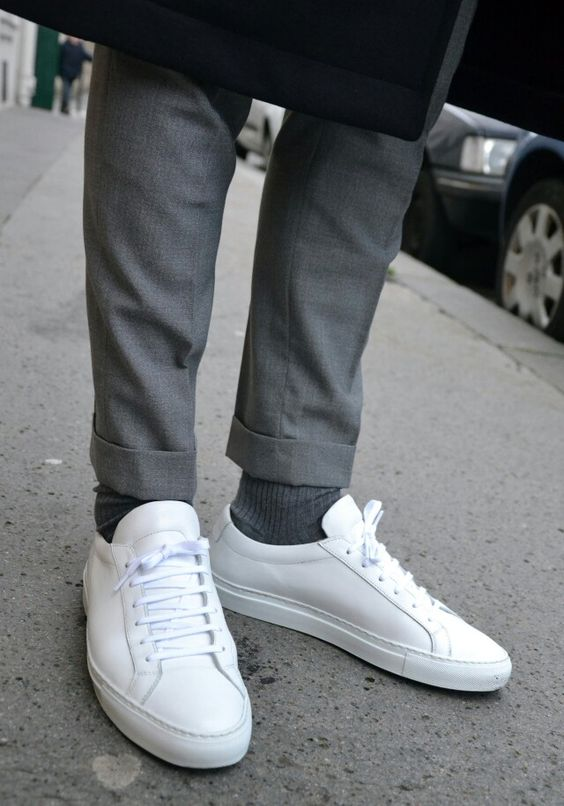 Tennis Sneakers Clean Wit Heren Schoenen Trend