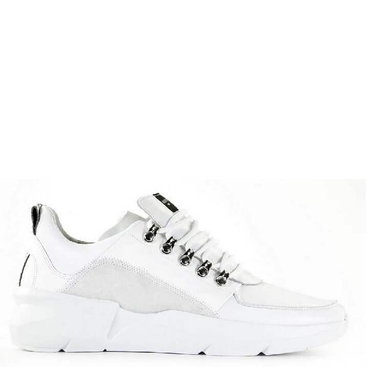 Nubikk Elven Royal witte chunky herensneakers