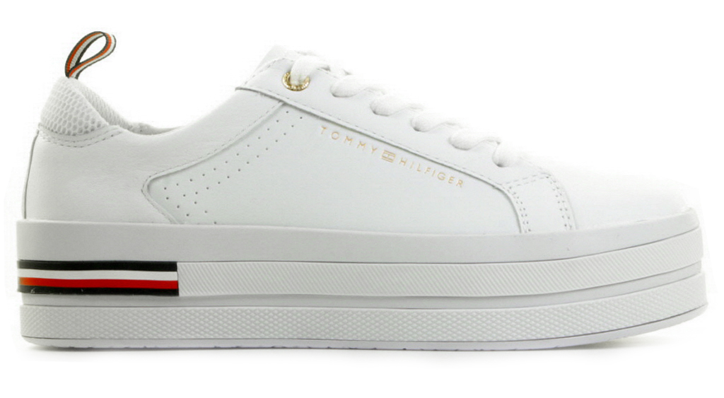 Witte Tommy Hilfiger retro damessneakers