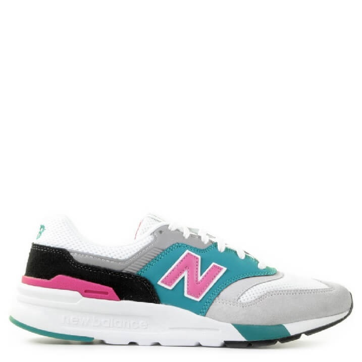 New Balance 997 retro dames sneakers roze groen