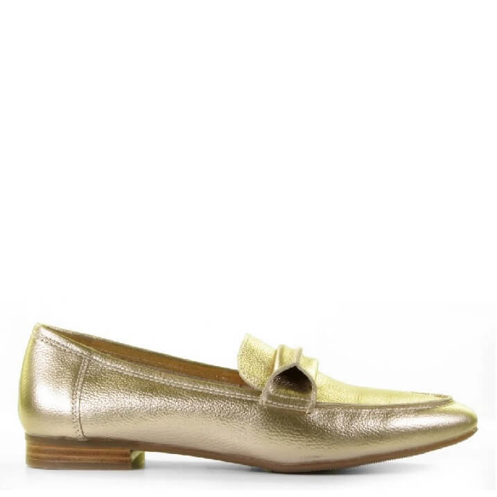Gouden metallic loafers Si