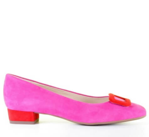 Peter Kaiser Fuchsia Rode Pump