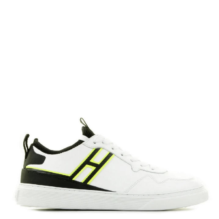 Witte herensneakers met fluo accent Hogan