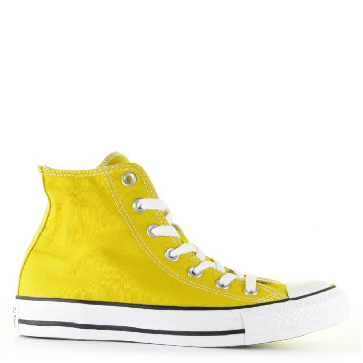 Converse All Stars canvas sneakers hoog geel