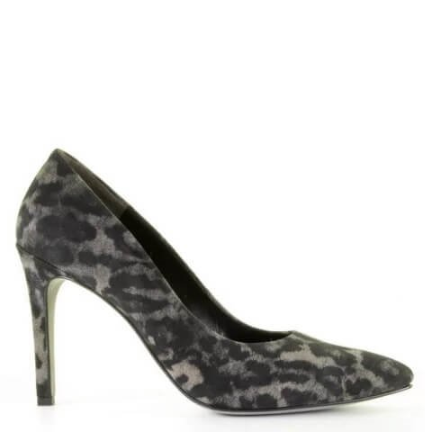 Paul Green grijze pumps met panterprint