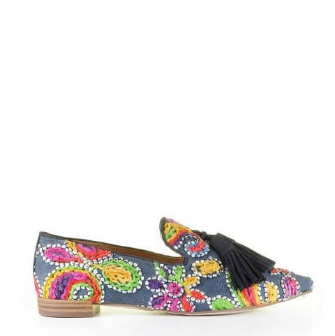 Pedro Miralles jeans loafer flowers