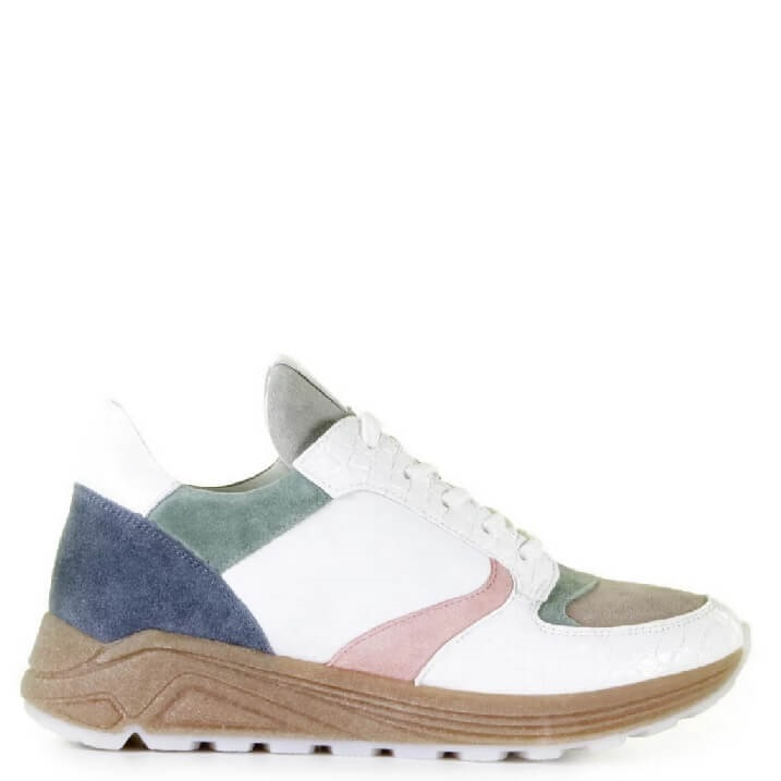 Via Vai Swami pastelkleurige colorblocking dames sneakers