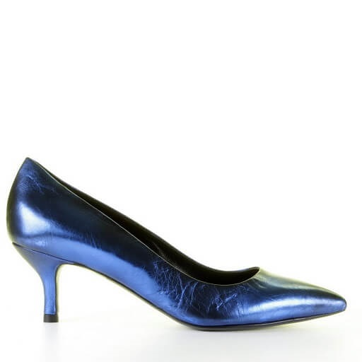 Strategia royal pump metallic blauw