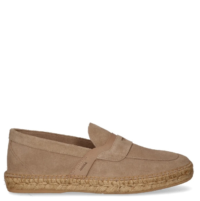 Nubikk Mr. Paco taupekleurige loafers heren