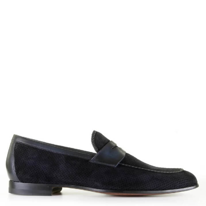 Magnanni navy heren loafers