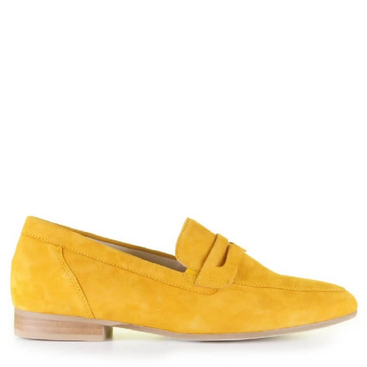 Gabor okergele loafers dames