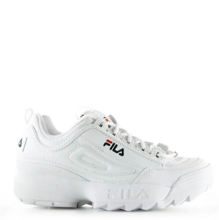 FILA Disruptor Low witte dad sneakers voor heren