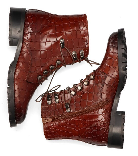 Pertini veterboots croco dames shabby chic