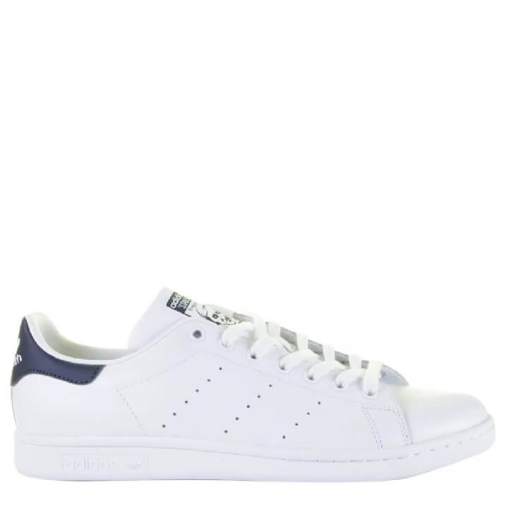 Adidas Stan Smith retro herensneakers met donkerblauw hielstuk