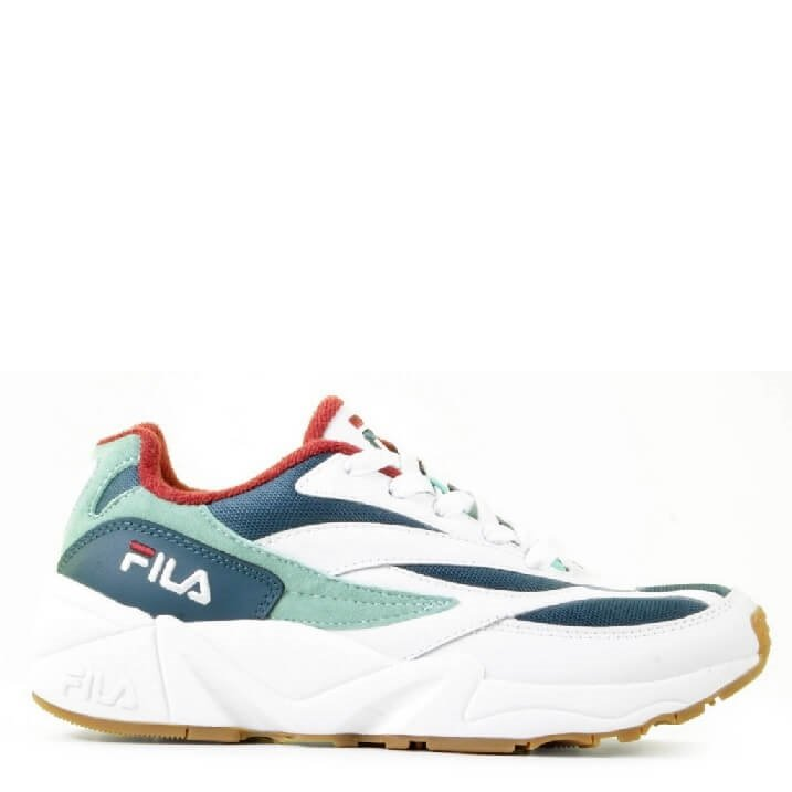 FILA V94M wit groen rood retro damessneakers