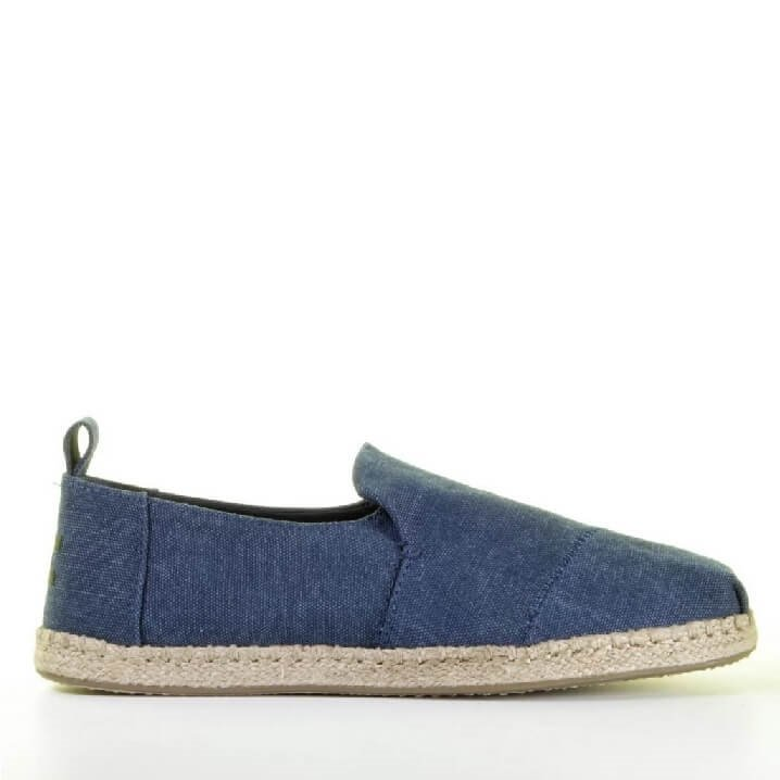 TOMS donkerblauwe canvas loafers heren