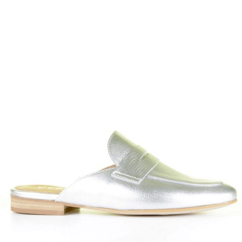 Cypres loafer instapper zilver