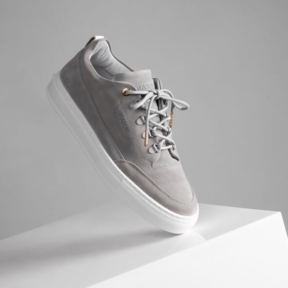 Schoenenmerk uit Nederland Mason Garments grijze high-end sneakers